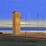 Patrick Savary du soir au lendemain acryl et huile s/toile, 80x80,2011