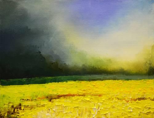Vadim Stolyarov (Russie) « A la fin de l'été » 40x52 cm huile sur toile, couteau, 2016 Fr. 300