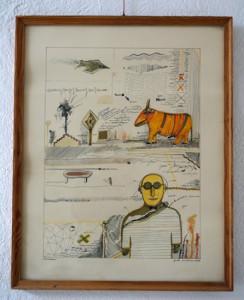 Kawalerowicz Jacek -1952 Varsovie – 1988 New-York-  dessin et aquarelle- 52x41- 1981 XI-Fr. 1'800.-