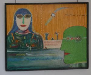 Kawalerowicz Jacek -1952 Varsovie – 1988 New-York-huile sur toile de lin, 33x41, 1983-Fr.2'900.-