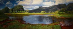 Victor Reyes Rosabal-El Descanso-huile sur toile-80x200cm-Fr. 5'000.-