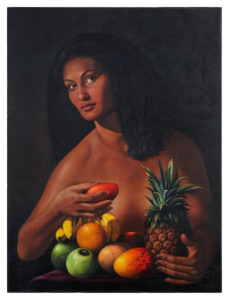 Raimundo-Lopez-Sin-titulo-80-x-60-cm-2014-nu-avec-ananas Fr.-750.-