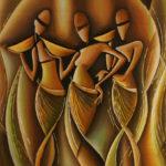 22. Pascal Bushayija-Elégance-acryl-sciure du bois blanc-50x70cm-Fr.750.-