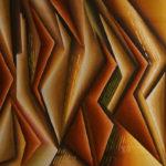 24. Pascal Buhsayija-Harmonie de triangles-acryl-sciure du bois blanc et rouge-50x70cm-Fr.750.-