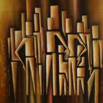 31. Pascal Bushayija-Sociabilité II-acryl-sciure du bois blanc-50x70cm-Fr.750.-