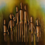 33. Pascal Bushayija-Soutien-acryl-sciure du bois blanc-50x70cm-Fr.750.-