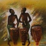 39. Pascal Bushayija-Abakaraza-acryl-30x45cm-Fr 420.-