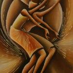 42. Pascal Bushayija-Danseuses-acryl-sciure du bois blanc-45x30cm-Fr.420.-