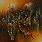 43. Pascal Bushayija-Le Danseur-acryl-30x45cm- Fr.420.-