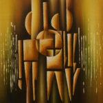 53. Pascal Bushayija-Vie quotidienne-acryl-sciure du bois blanc-30x45cm-Fr.420.-