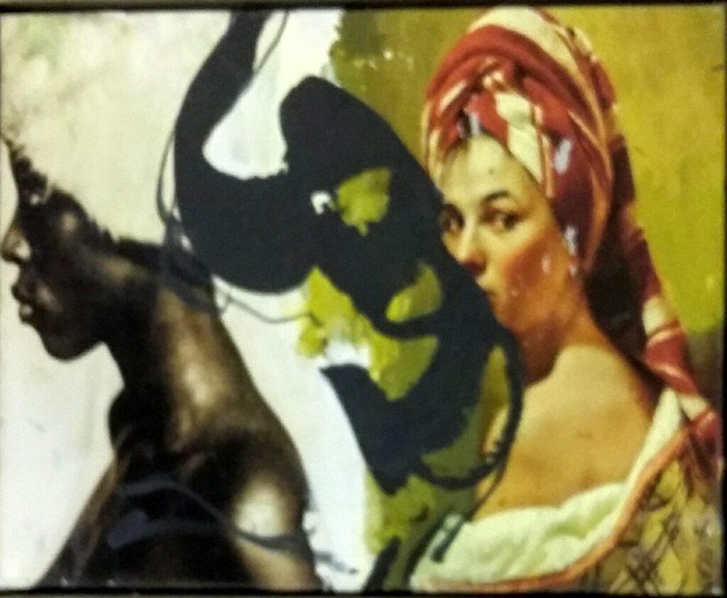 Pierre-Alain Morel collage imprimé sur toile et peint – 40x50 cm estimation Fr. 700