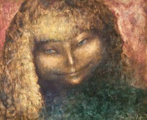 Valentina Shapiro (1948) La femme mystérieuse, 1997 54x65 cm Fr. 1'900