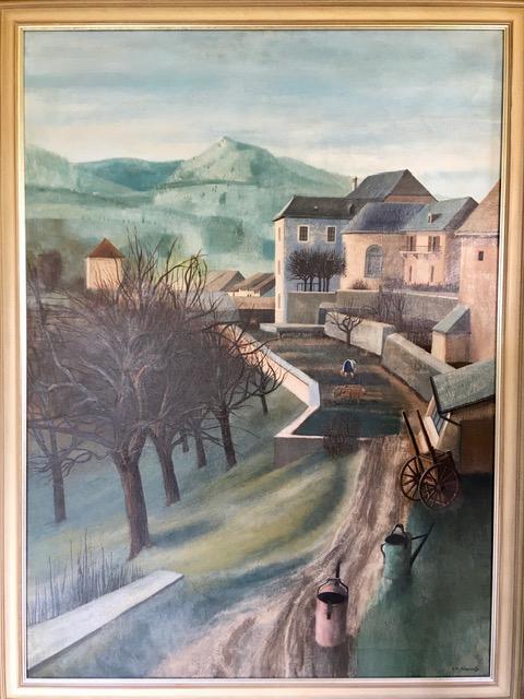 Jean-Lou Tinguely (1937-2002) Gruyères, 1967 Huile sur toile, 120x87 cm