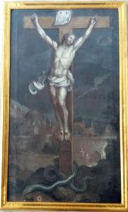 La crucifixion École flamande? Fin XVII e s. Huile sur toile, 100x60 cm Entièrement restauré, y compris le cadre Fr. 3'500