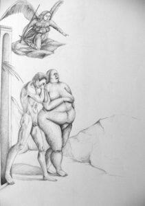 Anouk Richard Métamorphose d'une icône, Eve, Graphite sur papier, 2010-2011 59.5x42 cm Fr. 750