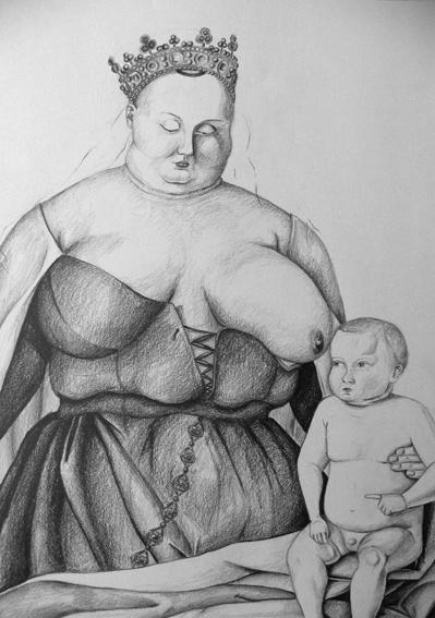 Anouk Richard Métamorphose d'une icône, Marie, Graphite sur papier, 2010-2011 59.5x42 cm Fr. 750