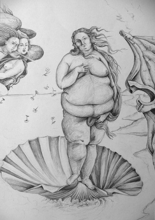 Anouk Richard Métamorphose d'une icône, Vénus, Graphite sur papier, 2010-2011 59.5x42 cm Fr. 750